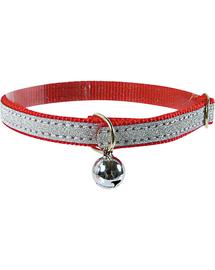 ZOLUX Csillogó nyakörv 30 cm piros
