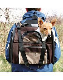TRIXIE Hátizsák kutya szállításhoz barna-bézs