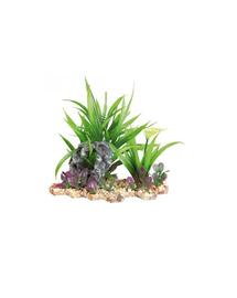 TRIXIE Plastic plant in gravel bed 18 cm
