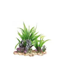 TRIXIE Plastic plant in gravel bed 28 cm akváriumban