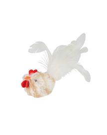 TRIXIE Játék fehér kakas tollal (hanggal) 8 cm