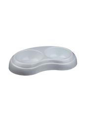 TRIXIE Nehéz, dupla műanyag tál 2 x 02 l- átmérő 10 cm