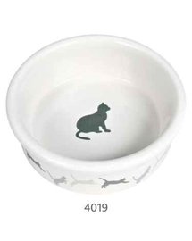 TRIXIE Kerámia, díszes tál macskáknak 250 ml - 11 cm
