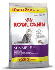 ROYAL CANIN Sensible 33 10 kg + 2 kg ajándék