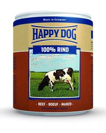 HAPPY DOG Rind Pur 800 g Konzerv kutyáknak - marha
