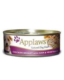 APPLAWS Kutya konzerv 156 g és csirke + sonka + zöldség