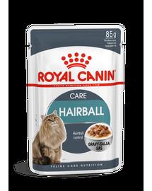 ROYAL CANIN HAIRBALL CARE - szószos nedves táp felnőtt macskák részére a szőrlabdák könnyebb eltávozásáért 85g