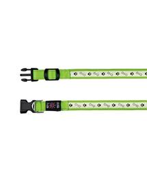 TRIXIE Nyakörv USB lámpával, L–XL: 50–60 cm-25 mm, zöld