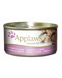 APPLAWS Konzerv macskáknak makréla és szardínia 70 g