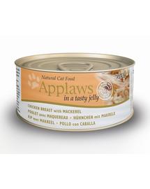 APPLAWS Konzerv macskáknak csirke és makréla 70 g