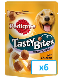 PEDIGREE Tasty Bites Chewy Cubes 6x 130Gr
