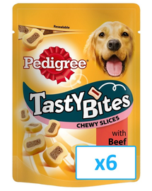 PEDIGREE Tasty Bites Chewy Slices 6x 155Gr