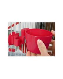 ZOLUX Műanyag tál felakasztáshoz átmérő 9,5 cm piros