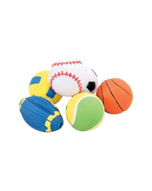 ZOLUX Gumi játék labda 6 cm szett 5 db
