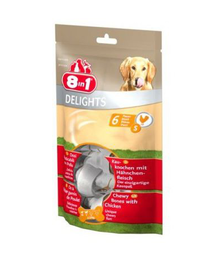 8IN1 Delights Bone jutalomfalat S -  (6 db)