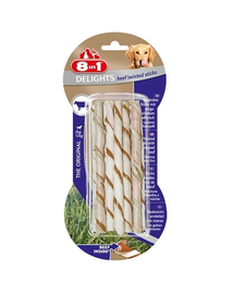 8IN1 Jutalomfalat Delights Beef Twisted Sticks 10 db