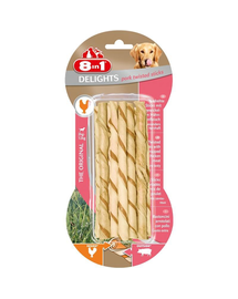 8IN1 Jutalomfalat Delights Pork Twisted Sticks 10 db