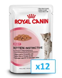 ROYAL CANIN Kitten Instinctive mártásban 85 g x 12