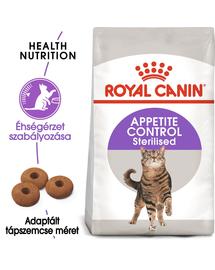 ROYAL CANIN STERILISED APPETITE CONTROLL - étvágyat kontrolláló ivartalanított felnőtt macska száraz táp 10 kg