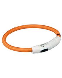 TRIXIE Karika USB flash lámpával, L–XL: 65 cm-O 7 mm, narancssárga