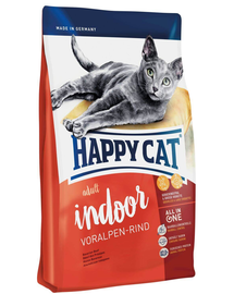 HAPPY CAT Indoor Adult Voralpen-Rind (Alpesi marha) 1,4 kg