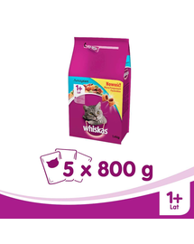 WHISKAS Steril lazaccal 800g x 5