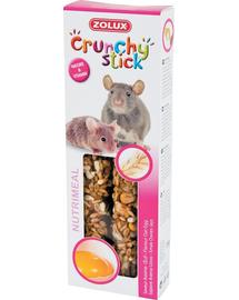 ZOLUX Crunchy Stick Patkány-Egér zab-tojás 115 g