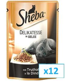 SHEBA Delikato pulyka aszpikban 85 g x12
