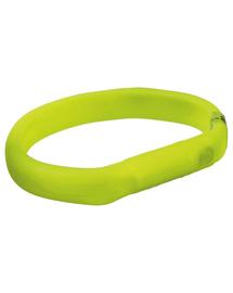 TRIXIE Karika USB flash lámpával, M–L: 50 cm-17 mm, zöld