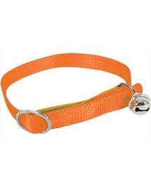 ZOLUX Nejlon nyakörv macskáknak 30 cm-10 mm szín narancssárga