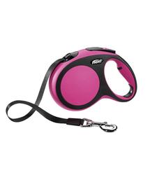 FLEXI Automatikus póráz New Comfort XS szalag 3 m rózsaszín