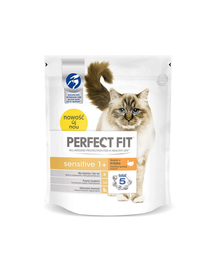 PERFECT FIT Sensitive 1+ pulykában gazdag eledel macskáknak 750 g