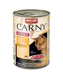 ANIMONDA Carny Konzerv macska marhahús- csirke-kacsaszív 400 g