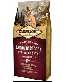 CARNILOVE macska sterilised bárány-vadhús 2 kg