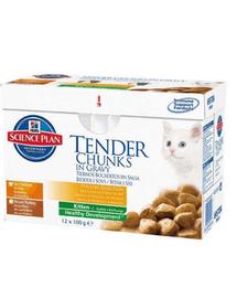 HILL'S Science Plan Feline Kitten Multipack Chicken - Turkey 85 g x12 db
