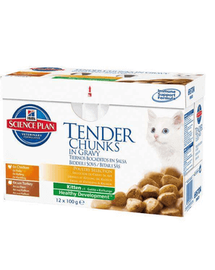 HILL'S Science Plan Feline Kitten Multipack Chicken - Turkey 85 g x12 db