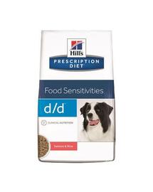 HILL'S Prescription Diet Canine d-d Salmon - Rice 12 kg