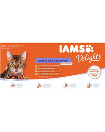 IAMS Delights Adult All Breeds Land-Sea In Játékvy 48 X 85 g