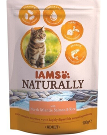 IAMS Naturally Adult Cat with North Atlantic Salmon - Rice 270 g