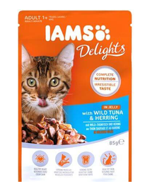 IAMS Cat Adult All Breeds Tuna & Herring In Jelly 85 g
