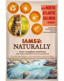 IAMS Naturally Adult Cat with North Atlantic Salmon in Játékvy 85 g