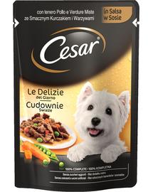 CESAR Adult csirkével és zöldségekkel mártásban 24 x100g