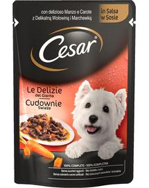 CESAR Adult marhahús és répa mártásban 24 x 100g
