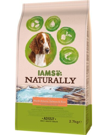 IAMS Naturally Adult Dog rich in North Atlantic Salmon - Rice 2,7 kg