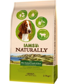 IAMS Naturally Adult Dog rich in New Zealand Lamb - Rice 2,7 kg