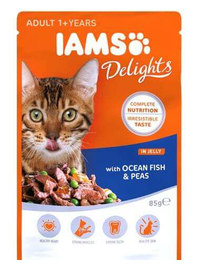 IAMS Cat Adult All Breeds Ocean Fish - Green Beans In Játékvy 85 g