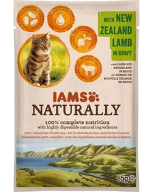 IAMS Naturally Adult Cat with New Zealand Lamb in Játékvy 85 g