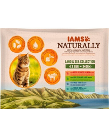 IAMS Naturally Adult Cat Land - Sea Collection 340 g
