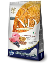 N&D Low Grain Dog Lamb & Blueberry Puppy Medium & Maxi 12 kg