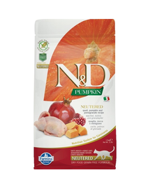 N&D Cat Pumpkin Neutered Quail & Pomegranate 1.5 kg